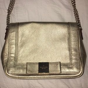 Kate Spade gold shoulder bag